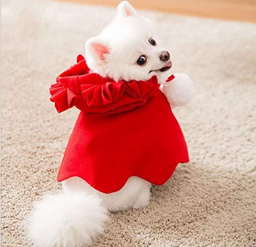 Lanlan Ting Natale Regolabile Cappello da Babbo Natale Mantello Sciarpa e Colletto Papillon Forma di Mantello di Natale Costume per Cucciolo Gattino Piccoli Gatti Cani (XXL)