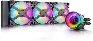 DeepCool Castle 360EX RGB AIO Liquid CPU Cooler, Anti-Leak Technology, Three MF120GT A-RGB PWM Fans, Wire Controller and 5...