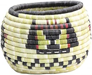 Irene Lomayaktewa (interview), Hopi Coil Basket, Mudheads w/ Kachina Head, 8 1/4
