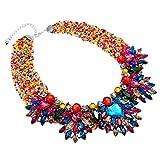 Jerollin - Collana girocollo da donna, con perline in resina e acrilico e Fede, colore: colore, cod. N0011216