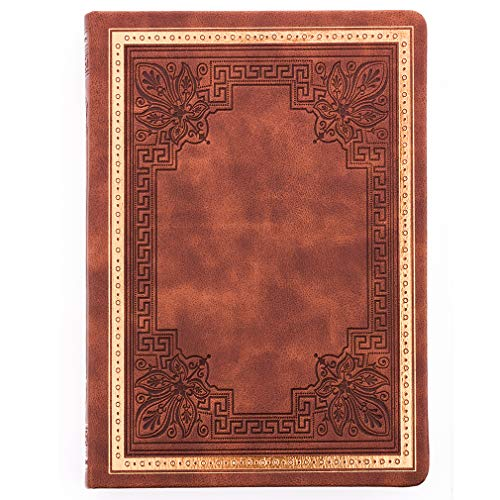 VICTORIA'S JOURNALS Old Book Undated Diary Ruled Journal Manuscript (5.7' x 8.1') (Brown)