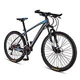 FANG Adulto Bicicleta Montaña, Profesional Ligero Bicicleta de Montaña Hardtail, 33 Velocidades Bicicleta BTT, Hombres Mujeres MTB,Spoke Gray,27.5 Inch