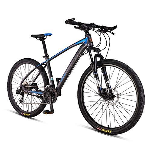 Adulti Mountain Bike Uomo Donne Hardtail Mountainbike, 33 velocitagrave; Front Suspension Mountain Bike Leggero Telaio Alluminio Biciclette,Spoke Gray,27.5 inch