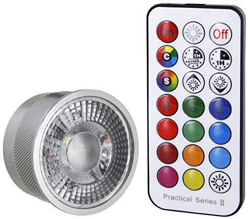 LED RGB + KW aluminium module 3W 230V dimbaar - met afstandsbediening - vervanging voor MR16 GU10 - voor lage plafondhoogtes