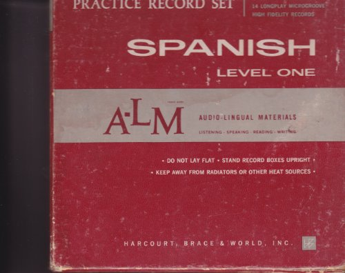 Practice Record Set Spanish Level One (331/3 RPM 14 Longplay microgroove high fidelity records)
