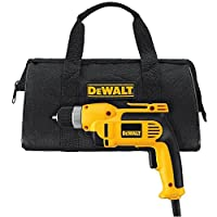 DEWALT DWD110K 8.0 Amp 3/8-Inch VSR Pistol Grip Drill Kit with Keyless Chuck from DEWALT