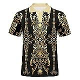 Patrón de Camisa 3D impresión Casual Nuevo diseño de Polo de Hombre Camisa de Verano Pattern 3XL
