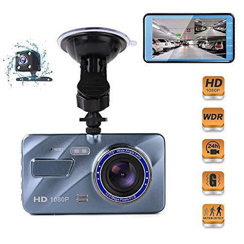 Dashcam Auto Vorne und Hinten - 1080P Full HD Autokamera, 170° Weitwinkel Dashboard-Kamera mit Super Nachtsicht mit G-Sensor/Parküberwachung/Bewegungserkennung/WDR/32GB Max【2020 Neues Modell】