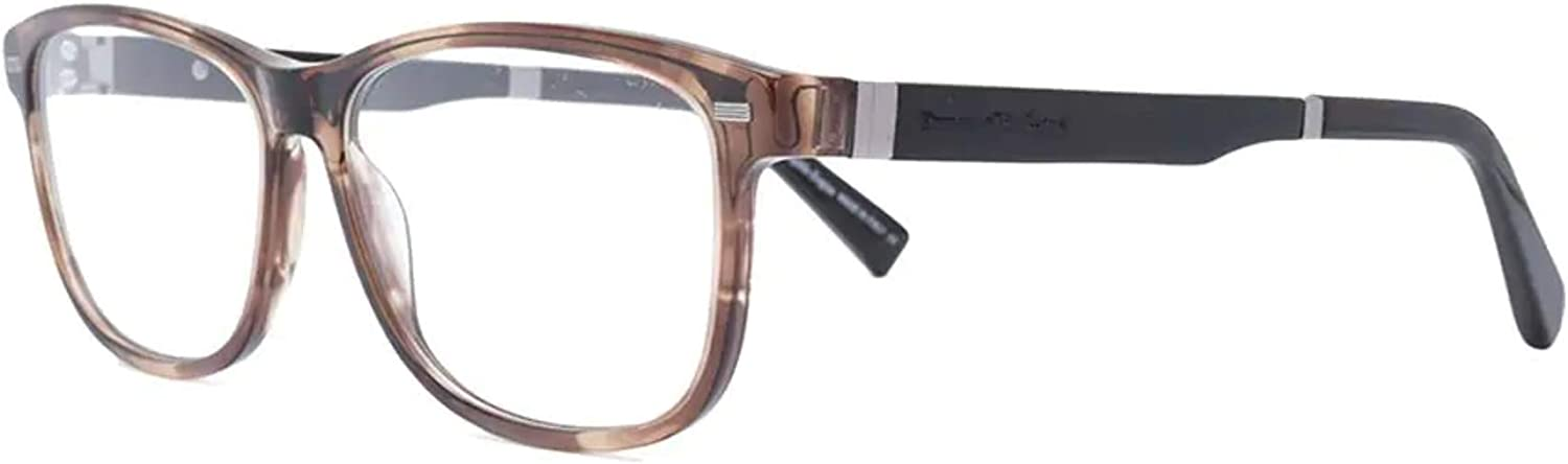 ERMENEGILDO ZEGNA EZ5062050 ACETATE EYEGLASS FRAME Havana, Black Brown 55MM