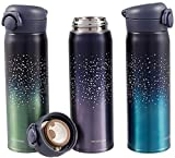 Botella de agua NZ Starry, surtida, 500 ml, de doble pared, aislada al vacío, botella de bebidas de viaje, sin BPA, botella de agua de metal a prueba de fugas