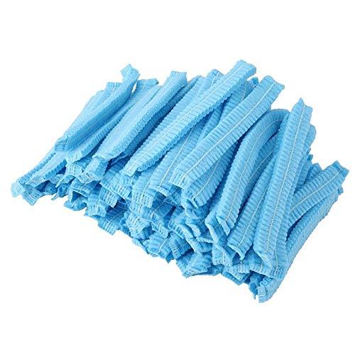 Brookfendi 100 Copricapo in Tessuto Non Tessuto, Traspirante, Antipolvere, USA e Getta, Industria Alimentare, Colore: Azzurro