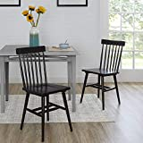 Better Homes & Gardens Gerald Dining Chairs Set of 2, Black
