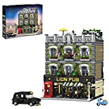 YIGE Bloques de construcción modular para casa, 5190 piezas, diseño de león, pub, bloques de construcción, modelo Street View, compatible con Lego