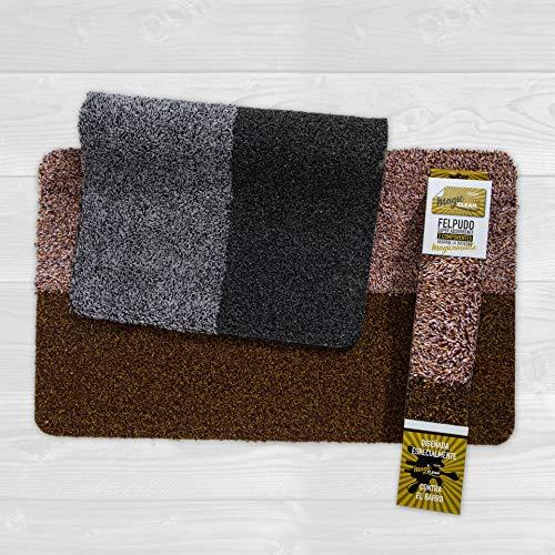 Tesar – Alfombra Magic Mat Clean, 2 componentes, Exclusiva, Entrada a casa, Pasillo, habitación, súper Absorbente para Exterior e Interior, Impermeable, Lavable, atrapa Toda la Suciedad (Negro)
