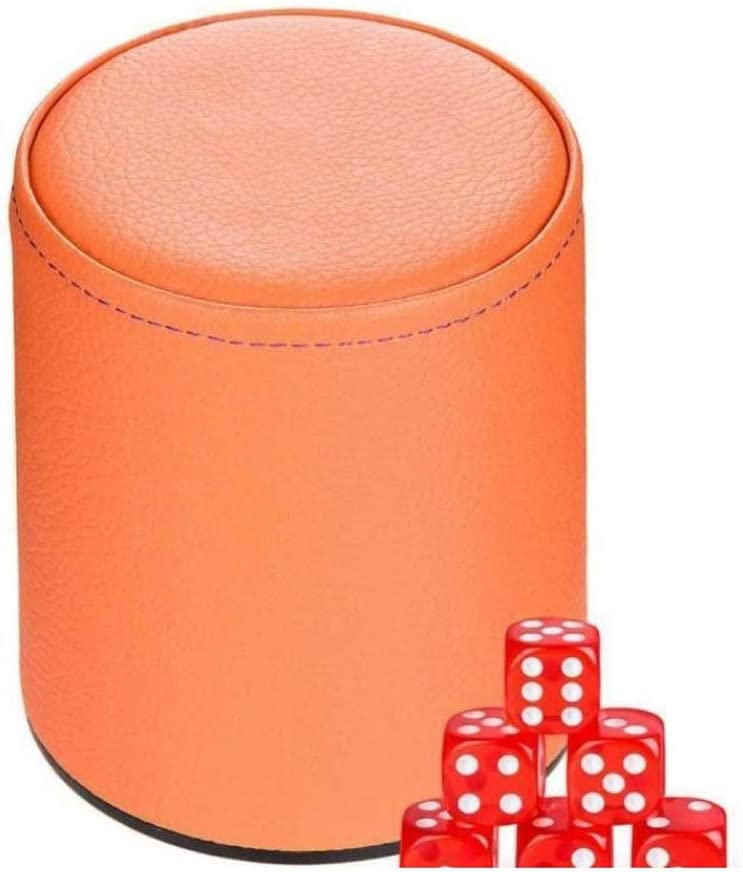 TX GIRL Leather Dice Free Shipping Cheap Bargain Gift Cup Colored Casino online shopping Sets Craps Gambling KTV
