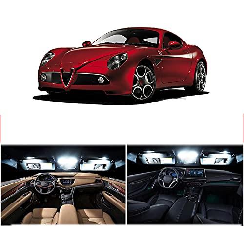 Kit de luz Interior LED para vehículo Canbus, para Alfa Romeo Giulietta Mito Brera GT Spider Giulia 4C Stelvio 147156159166