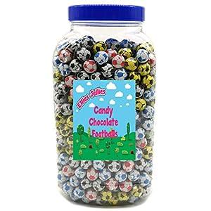 ellies jellies® candy chocolate footballs 3kg jar Ellies Jellies® Candy Chocolate Footballs 3kg Jar 51liK7pecqL