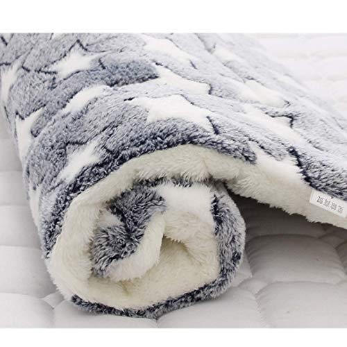 saxz Calidad Fleece Fleece Manta Exquisita Matera Cálida Y Suave Cama para Mascotas para Pequeños/Medianos/Grandes Gatos De Perros(Size:Medium49x32cm,Color:Grey2)