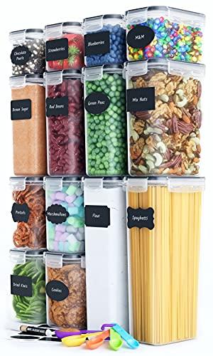 Chef\'s Path | Vorratsdosen Set aus 14 Frischhaltedosen mit Deckel | Ideal als Vorratsbehälter, Aufbewahrungsbox Küche, Vorratsbehälter, Vorratsdose, Aufbewahrung Küche Aufbewahrung & Organisation