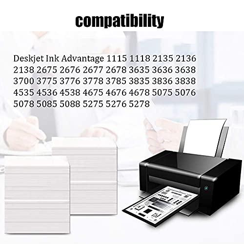 SVUZU 664 Cartucho De Tinta Compatible para HP 664XL, FIT para HP DeskJet 1115 2135 2138 2675 2676 2678 3635 3638 5075 5275 Impresora