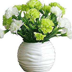 YQCH Carnation Artificial Flowers,Fake Flower,Silk Flower Simulation Flower Flower Arrangement Dried Flowers Simulation Bedroom Living Room Potted Plants