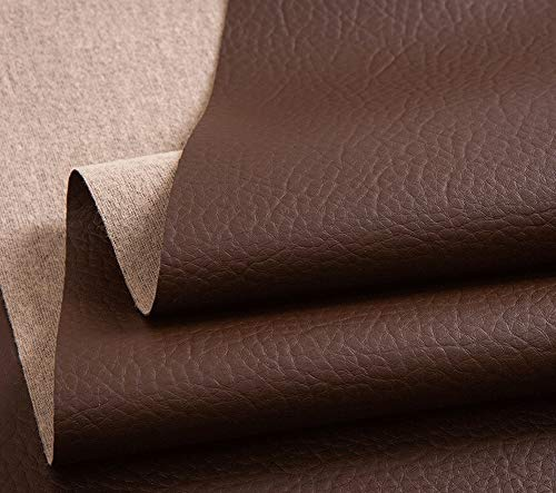 Xia Yuuu Net PVC packaging stationery leather Faux Leather Fabric Leatherette Fabric Grain Heavy Feel PVC Vinyl Upholstery Fabric Per 1 Metre x 140cm Wide for Bag Clothing Fitttings Making Material
