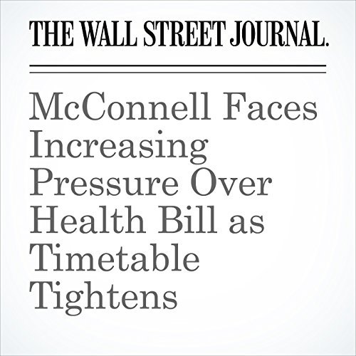 McConnell Faces Increasing Pressure Over Health Bill as Timetable Tightens copertina