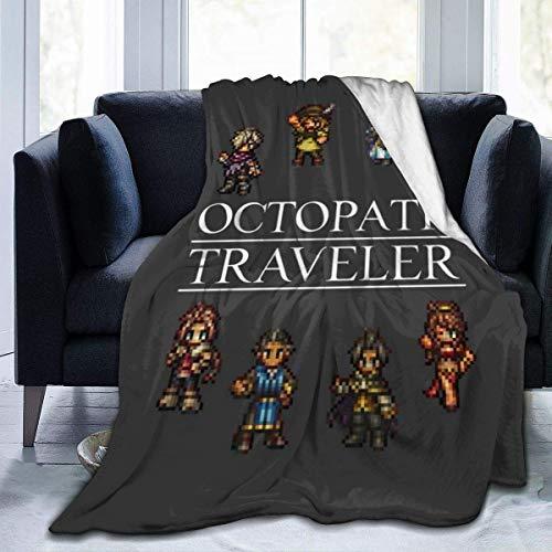 haoqianyanbaihuodian Octopath Traveller Manta de franela de forro polar, ligera, ultrasuave, cálida, para sofá
