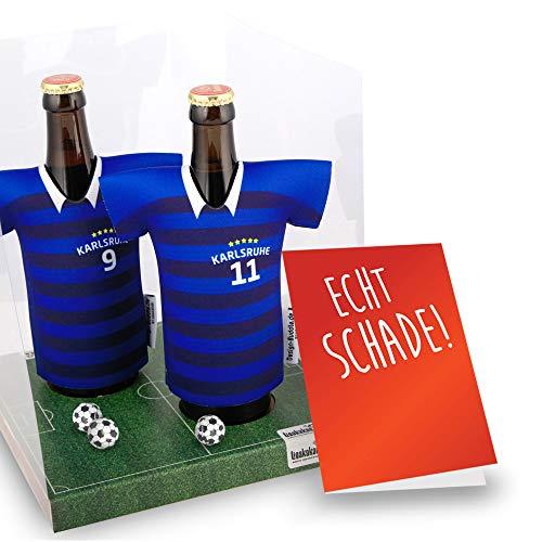 Kollegen Abschied | Der Trikotkühler | Das Männergeschenk für Karlsruhe-Fans | Langlebige Geschenkidee Ehe-Mann Freund Vater Geburtstag | Bier-Flaschenkühler by Ligakakao