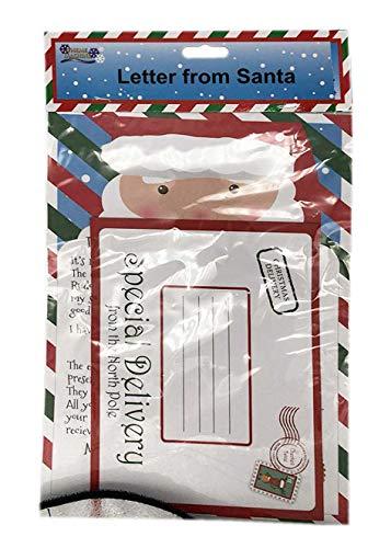 St@llion - Letra de Papá Noel con sobre blanco con letra y texto precedido