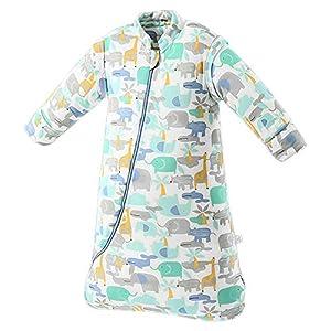 SaponinTree Saco de Dormir de Invierno para Bebé, 3,5 Tog, Saco de Dormir de algodón 100% orgánico con Manga Larga…