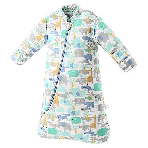 SaponinTree Saco de Dormir de Invierno para Bebé, 3,5 Tog, Saco de Dormir de algodón 100% orgánico con Manga Larga Extraíbles para Bebés de 6-18 Mes