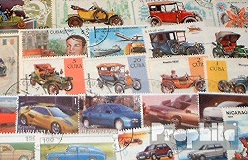 Prophila Collection Motivos 50 Diferentes Coche y Los vehículos de Motor Sellos (Sellos para los coleccionistas) el tráfico por Carretera