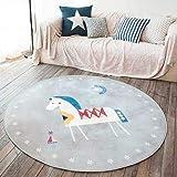 BeachmanL01 Florals צבי דפוס שטיח שטיחים נורדי סגנון סלון חדר שינה שטיחים לילדים אנית להחליק בית תפאורה מלבן רצפת מחצלות