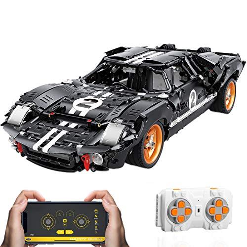 HYZM Technic Deportivo de Carrera, 2404 Piezas Maqueta GT40 Construcción de Coche de Carreras con Control Remoto y Motor, Compatible con Lego Technic