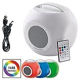 EASYmaxx 04293 Colorcube | LED-Bluetooth-Lautsprecher | Farbwechsel, Akku | Indoor und Outdoor -...