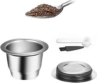 Nishore Cápsulas de café Máquina de café de aço inoxidável Filtros de cápsulas Copo 0,13 onças Capacidade para Nespresso U...