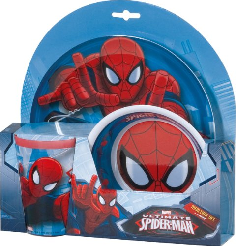 BBS Vajilla Infantil, 3 Piezas, Estampada Spiderman, Centimeters