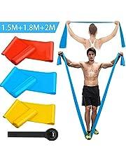 Kuyang Motståndsband uppsättning träningsband sport elastiskt fitness band extra lång gymutrustning kvinnor män för hemmapass, styrketräning, fysisk terapi, yoga