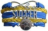 Soccer Charm Bracelet - Infinity Love Adjustable Charm Bracelet with Soccer Charm for Her