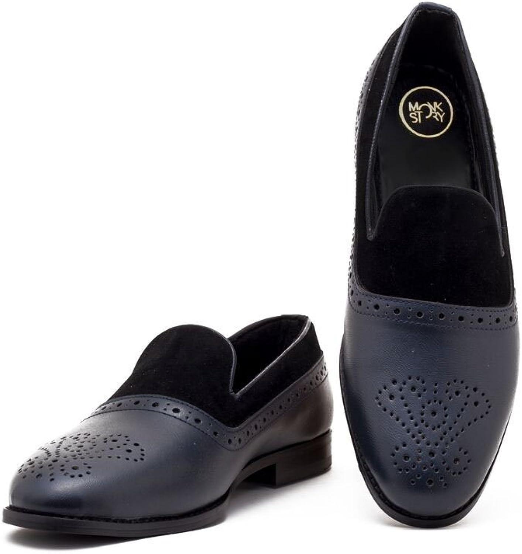 Monkstory Men Brevard Black bluee Slip-On