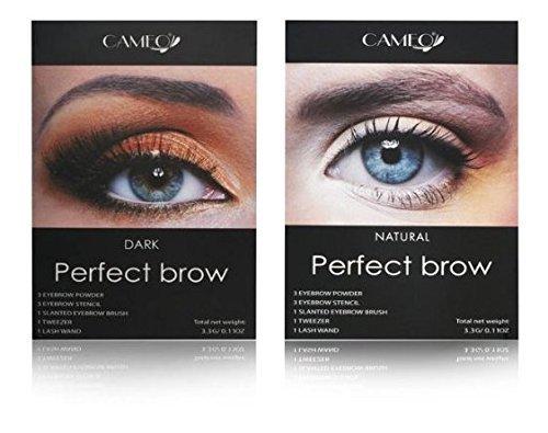 Cameo Perfect Brow Makeup Natural & Dark Brown (Pack of Two)