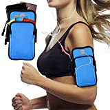 Armband Armtasche, Rennen Outdoor Handytasche Sport Laufen Doppel Reißverschluss Sportarmband für Handy Bis zu 7,0