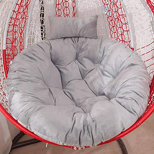 Tufted Swing Chair Cushion,soft Fluffy Hanging Rattan Swing Seat Cushion,for Indoor Outdoor Patio Backyard(not Selling Chairs) Gray 110x140cm(43x55inch)