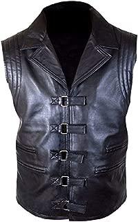 Men Real Sheep Lamb Leather Vest Hugh Jackman Van Helsing Leather Vest Waistcoat