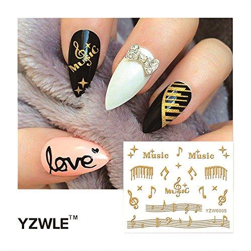 Allegorly DIY Stamping Decals Aufkleber NEUE HEIßE Werkzeuge Blumendekoration Nail art Nagel-Wasserzeichen-Aufkleber Nagelpflege Make-up
