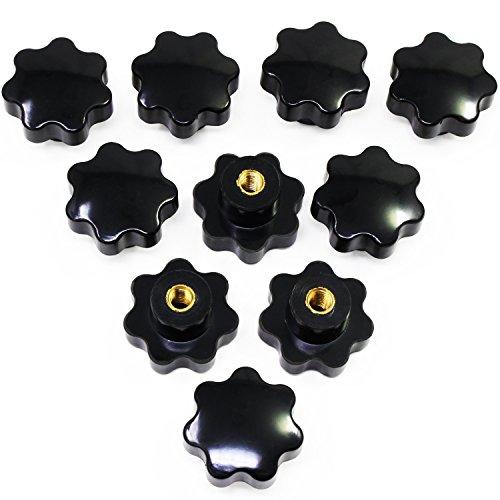 HSeaMall 10 STÜCKE M8 Innengewinde Klemmknopf Schwarz Kunststoff Stern Form Kopf Knopf Griff Hand Knopf für Werkzeugmaschine