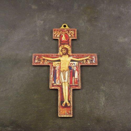 Christliche 8,8 cm, Wand-Franziskus von Assisi Kreuz aus Holz - The wording on the item is in English