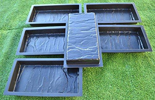 SvitMolds 12PIECE Design Concrete MOLDS for Paving Brick Slab Patio Garden Path Mould#S19