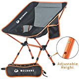 MECHHRE Chaise de Camping Pliable avec Sac de Transport - Compacte, Ultra Légère Chaise de Plage Pliable - Hauteur Réglable...